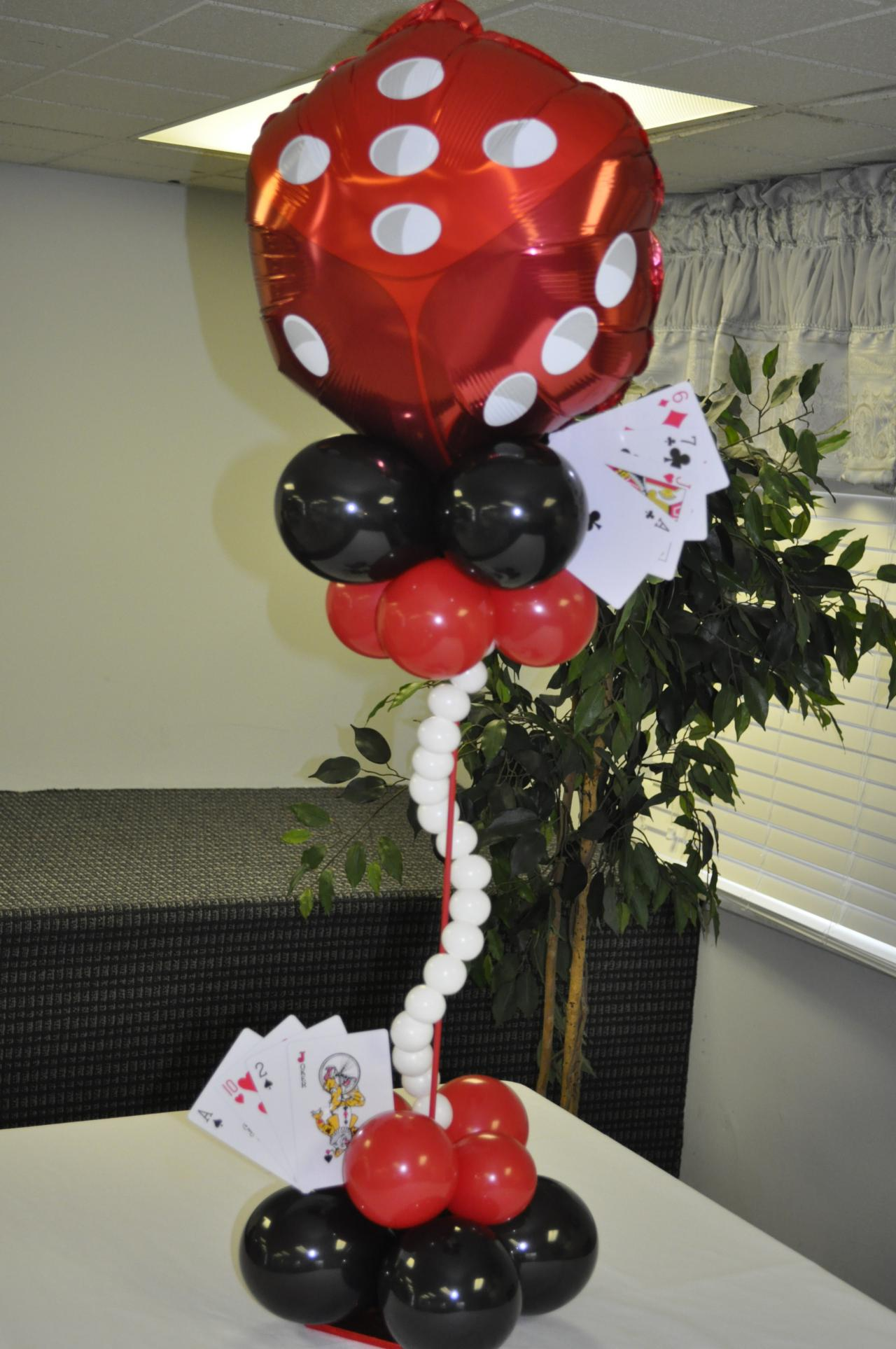 Images of heaven events balloons centerpieces for Balloon decoration centerpieces